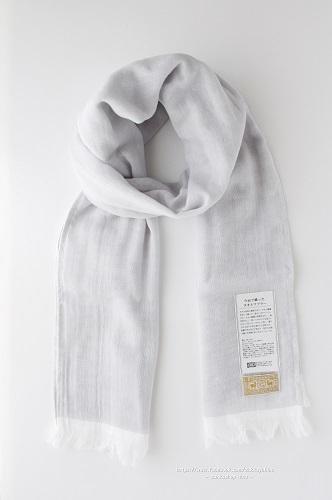 s-今治で織ったタオルマフラー 薄墨