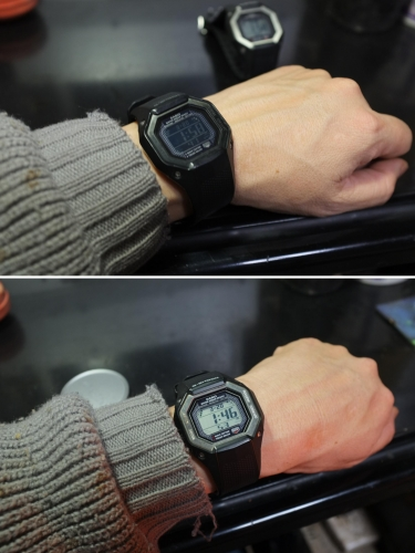 GW-056 BJ&J② 実際に腕に付けた時の視認性の違い