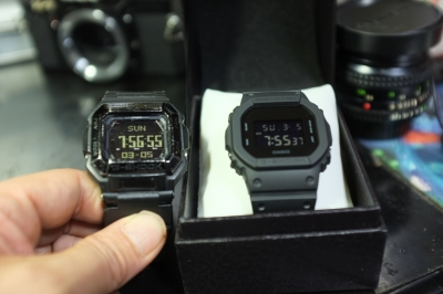 DW-5600BB③ G-7800Bとの反転液晶明度比較