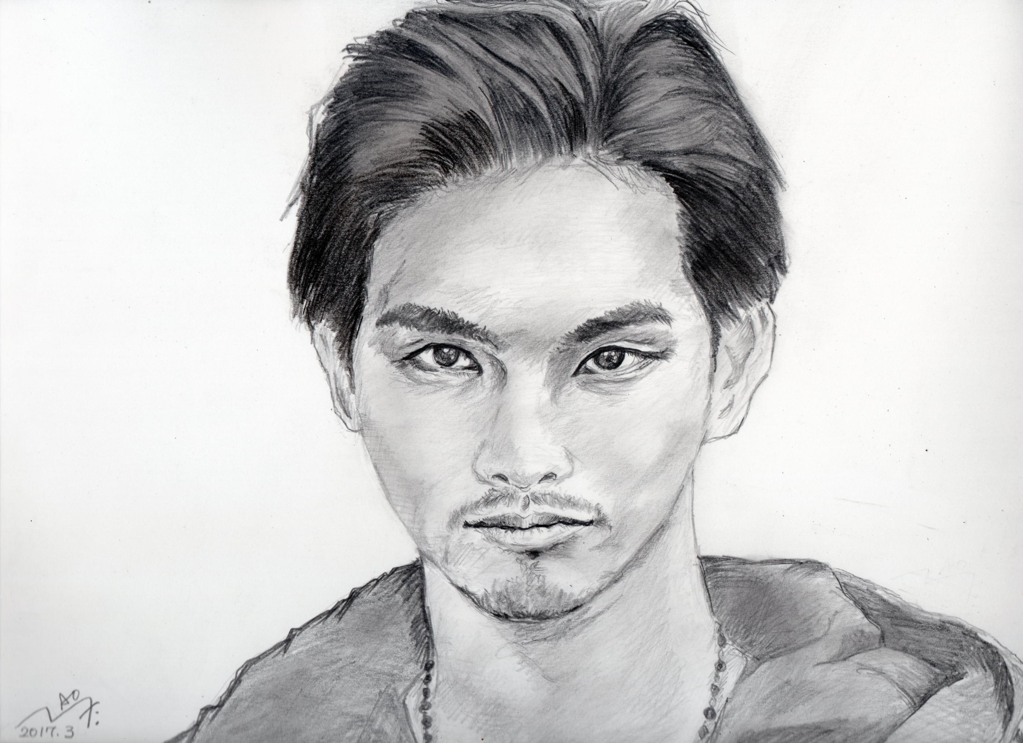 柳楽優弥の鉛筆画似顔絵
