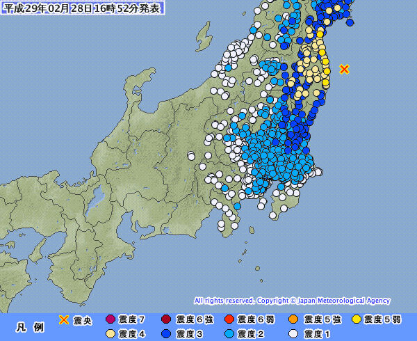【気象庁】宮城・福島で地震が頻発してるけど、これも「余震」らしい