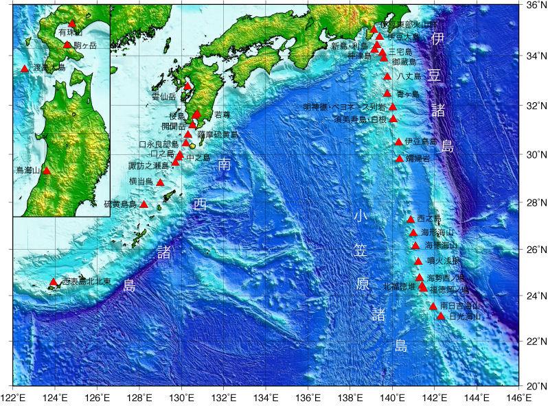 【活発化】海底火山「ベヨネース列岩」で新たに複数の場所から気泡が発生