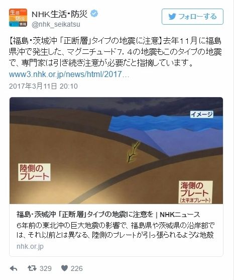 【プレート】福島・茨城沖「正断層」タイプの大地震に注意を…地殻変動が継続