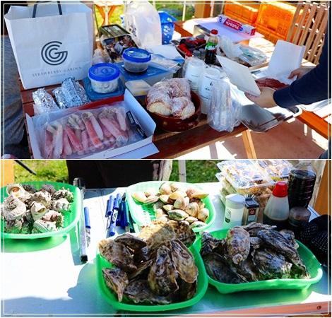 牡蠣焼き&BBQ